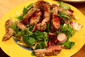 Warm lamb and noodle salad by Itti