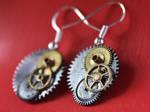 Steampunk earrings by Itti