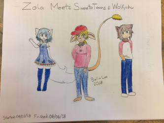 Zola meets SweetoToons  Wolfychu by bellatony55