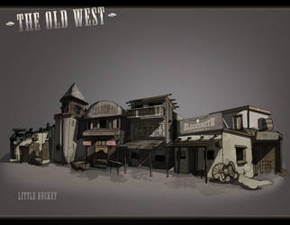 The Old West: The Town by feuerkorn