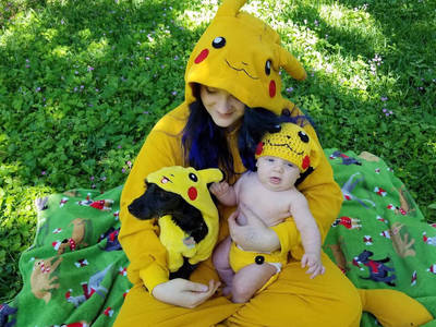 Pikachu Baby Outfit in Action! by bmestar on DeviantArt 135cda836314