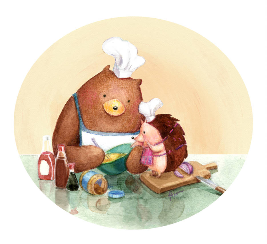 Hedgehog and Bear: Cooking by Pameloo
