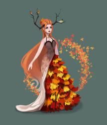 Autumn Goddess by Pameloo