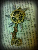 Steampunk Windmill Fantasy Key by ArtByStarlaMoore