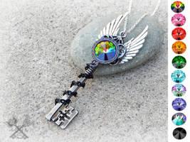 Custom Key To My Heart Necklace by ArtByStarlaMoore