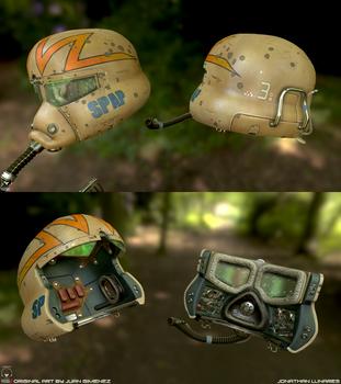 Sci-fi helmet by CougarJo