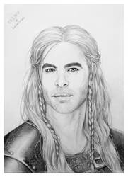 Unnamed (yet) character / Chris Pine by hwaetmere