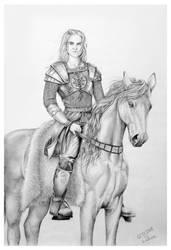 An equestrian portrait by hwaetmere