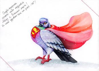 Superpigeon by hwaetmere