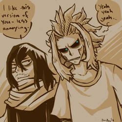 MHA: Aizawa and Toshinori by the19thGinny