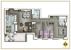 FLOOR PLAN 2D by TALENS3D