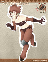 Monmusu X Monster Hunter+ - Bullfango by seagr33nowl