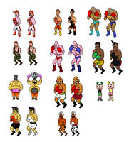 NES Punch out sprites in WII style by Bronto-Stingtail