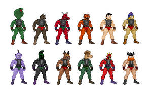 Sungold Galaxy Warriors Sprites by Bronto-Stingtail