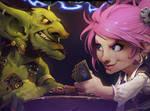 Goblins vs. Gnomes by SpicyGingerr