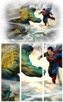 Superman vs Hulk by patokali