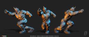 Rhino by patokali