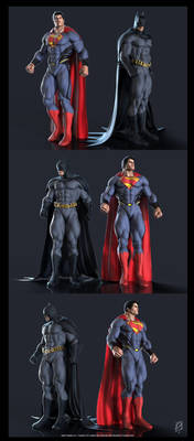 Batman - Superman by patokali