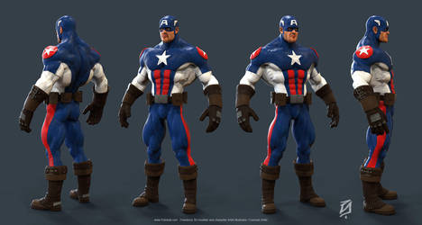 Captain-America Toon-KS18 by patokali