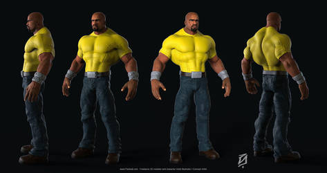 Luke-Cage-Toon by patokali