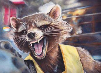 Rocket Raccoon by Kelii
