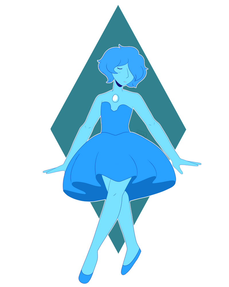 Shy gorl  Blue pearl is from Steven Universe!
