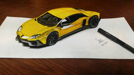 3d Lamborghini! by vinithpatil19
