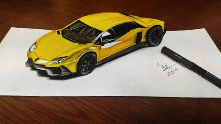 3d Lamborghini! by vinithpatil19