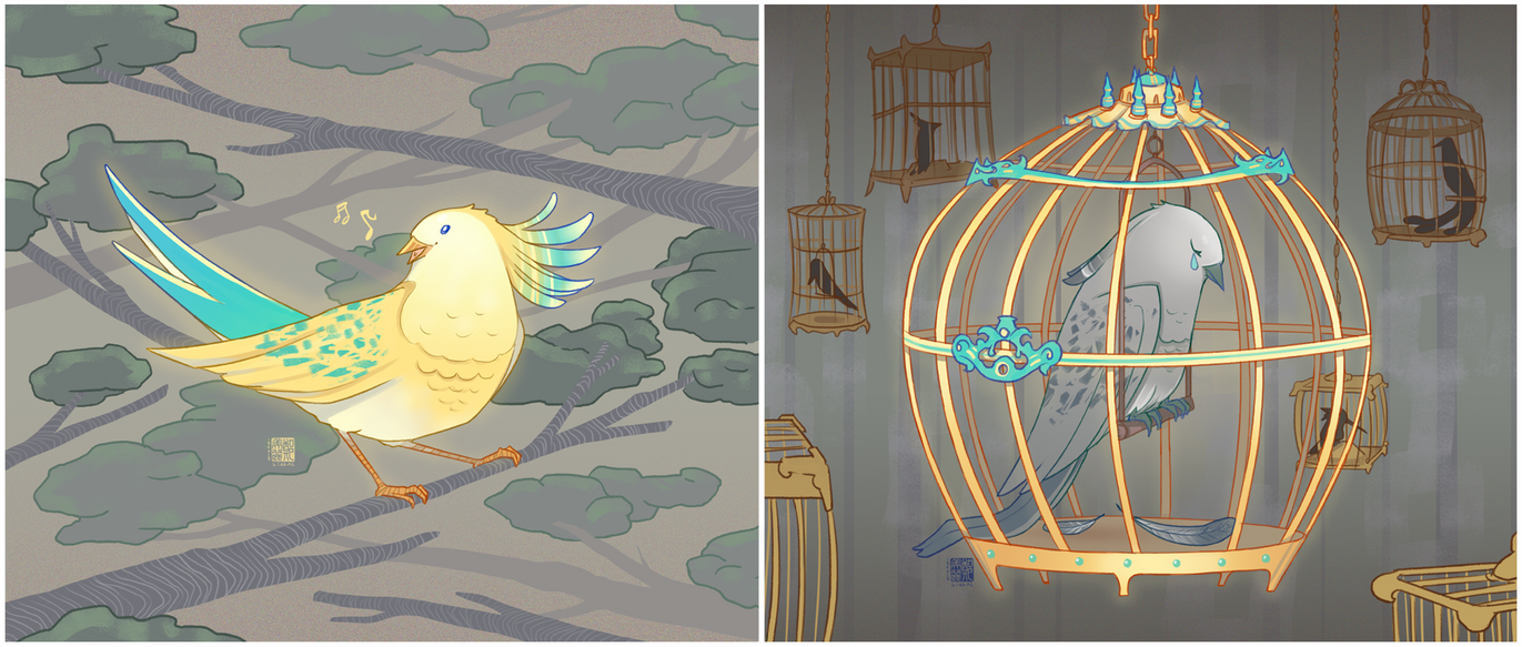 Beautiful bird, beautiful cage by liea