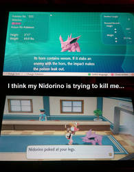 I think my Nidorino is trying to kill me by TheRedPsycho