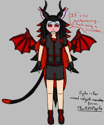 Psycho in her catgirl-succubus form by TheRedPsycho