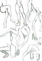 Leg Poses by MizMaxter