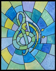 Stained Glass X: Clef by TheColclough