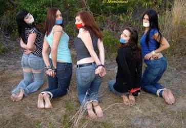 V - Lydia, Jessica, Tara, Amy, and Jade by Jeansbound