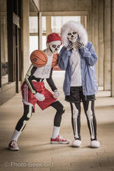 Sans and Papyrus Cosplay by E-The-Zombie