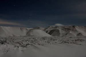 Icelandic Mountains at Night by StewartSteve