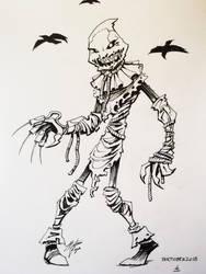 Day 4: Scarecrow (Jonathan Crane) by mateusboga