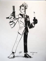 Day 17: Two-Face (Harvey Dent) by mateusboga