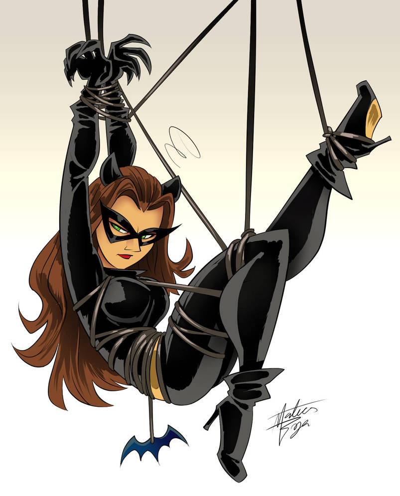 Tied Catwoman (Commission) by mateusboga