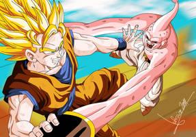 Dragon Ball Z Goku vs Buu by Sersiso