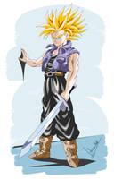 Future Trunks Dragon Ball Z by Sersiso