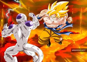 Commission for YoNiggaGoku (Goku and Freezer) by Sersiso