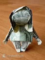 Dollar Origami Zombie v2 by craigfoldsfives