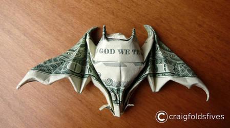 Dollar Origami Bat v3 by craigfoldsfives