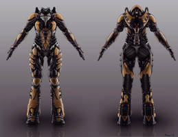female battle suit consept Valkyrie by Avitus12