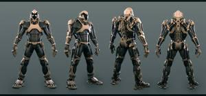 Finished super soldier exoskeleton #1 by Avitus12