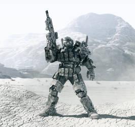 super soldier code name Chimera final render WIP 1 by Avitus12