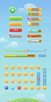 Mobile Game GUI by GraphicBurger