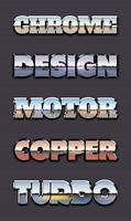 Chrome Reflection Text Styles Vol.1 by GraphicBurger