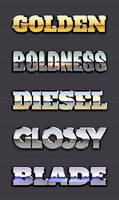 Chrome Reflection Text Styles Vol.2 by GraphicBurger
